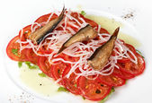 Salad of Sardine — Stock Photo