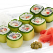 Stock Photo: Japanese sushi rolls.