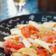 Vegetarian penne pasta dish — Stock Photo