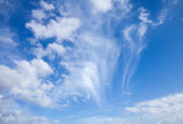 Sky with different types of clouds, horizontal — Stock Photo