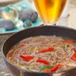 Buckwheat noodle soup - Stock Photo