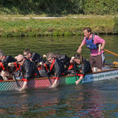 FEN DITTON, CAMBRIDGE, UK - SEPT. 12: dragon boat festival — Stock Photo