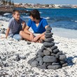 Stock Photo: Christmas cairn