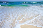 Sandy shore background — Stock Photo