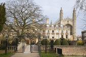 Volta de gates e ponte na faculdade de Clare; Cambridge; Inglaterra; Reino Unido — Fotografia Stock
