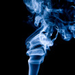 Wisp of smoke on black; — Stock Photo