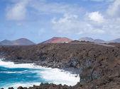 Estrada para le golgo, lanzarote, ilhas canárias — Fotografia Stock