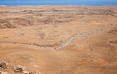 Northern Fuerteventura, view from Bayuyo volcano towards malpai — Stock Photo