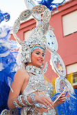"""Puerto del Rosario, Spain - FEBRUARY 25: Young woman, """"Carnival — Stock Photo"""