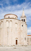 St. Donatus church and bell tower of St. Anastacia cathedral in Zadar; Croatia — Stock Photo