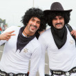 "Stock Photo: CORRALEJO - MARCH 17: Two participants, ""White Sheriffs"" at the"