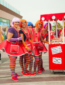 """CORRALEJO - MARCH 17: Dressed-up participants, """"candy girls"""", at — Stock Photo"""