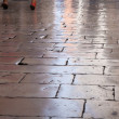 Flagstones polished to perfection by walking feet, Zadar, Croati — Stock Photo #9836310