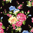Floral background , element for blue design pattern — Imagen vectorial