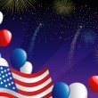 Fourth of July fireworks — Vector de stock #10226806