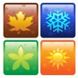Icons for four seasons - Stock Vector