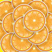 Oranges slices pattern — Stock Vector
