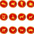 Vetorial Stock : Chinese astrology