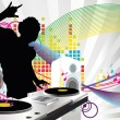 Stock Vector: DJ music