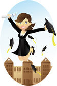 Graduation — Stock Vector
