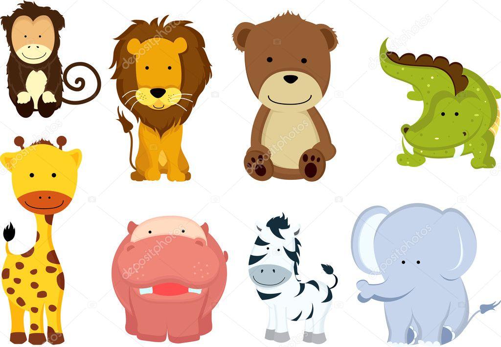 Desenhos de animais selvagens — vetor stock