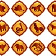 Chinese astrology — Stok Vektör