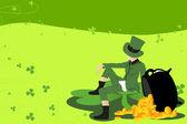 Leprechaun and St Patrick day — Stock Vector