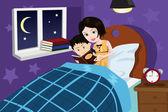 Bedtime story — Stock Vector