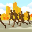 Marathon runners - Stock Vector