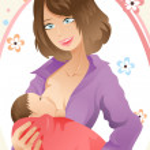 Breast feeding woman — Stock Vector #8178347