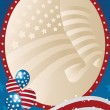 Vector de stock : Fourth of July banner