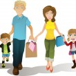 Royalty-Free Stock Vector Image: Shopping family