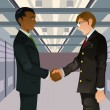 Royalty-Free Stock Vector Image: Businessmen shaking hands
