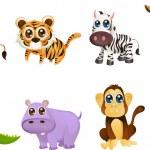 Wildlife animal cartoons — Stock Vector