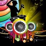 DJ music — Stock Vector