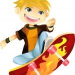 Skateboarding boy — Stock Vector #8178689