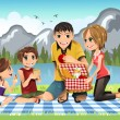 Family picnic — Stock Vector #8178835