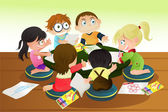 Children drawing — Stock Vector