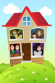 Family at home — Stock Vector