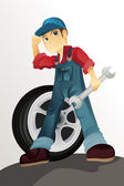 Auto mechanic — Stock Vector