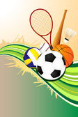 Ball sports background — Stock Vector