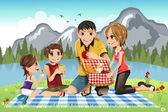 Family picnic — Stock Vector