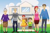 Multi generation family — Stock Vector