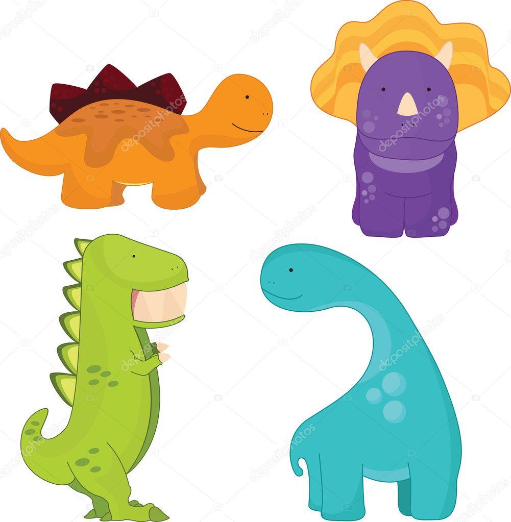 Cartone animato dinosauri — vettoriali stock artisticco
