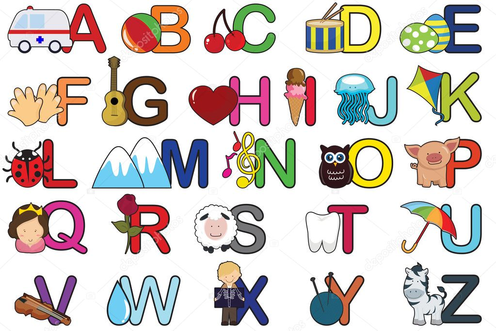 Alphabet letters — Stock Vector © artisticco #8178355