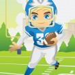 Stock Vector: Boy playing football