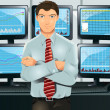 Stock trader — Stock Vector