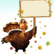 Royalty-Free Stock Vector Image: Turkey holding a sign
