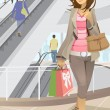 Shopping woman — Stock Vector #8180530