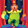 Clown on stage — Stock Vector #8180562